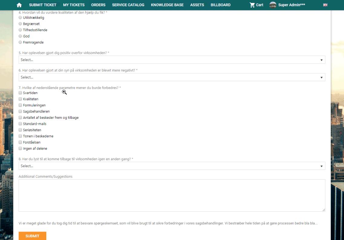 Survey part 2 screenshot