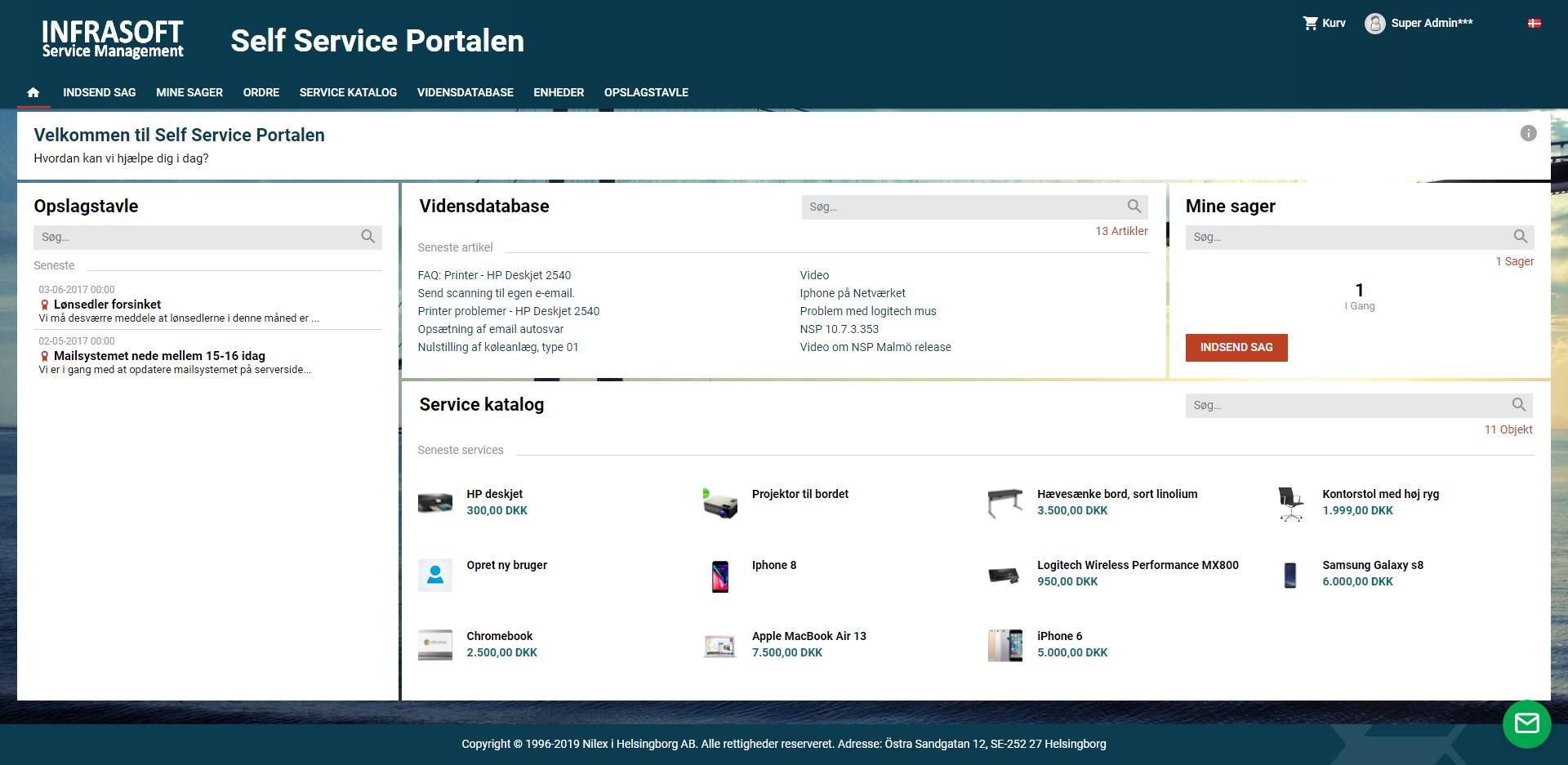 SSP oversigt screenshot
