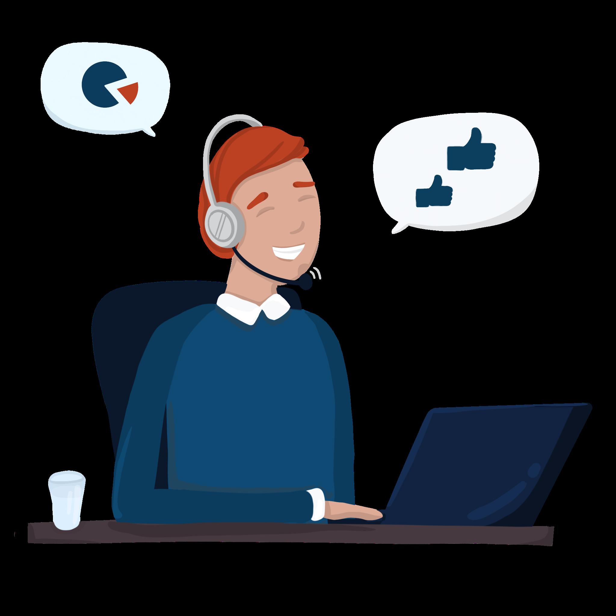 Customer service management supporter